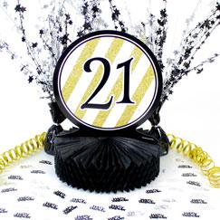 21 cumpleaños Decoraciones de mesa
