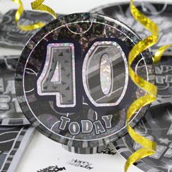 40.o accesorios de la fiesta de cumpleaños