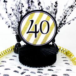 40 cumpleaños decoraciones de mesa