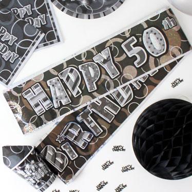 Banners de fiesta de cumpleaños 50