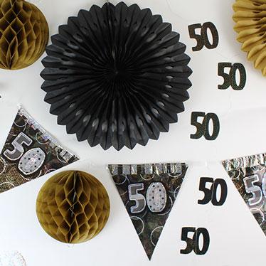 50.a decoraciones de la fiesta de cumpleaños