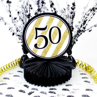 50 cumpleaños decoraciones de mesa