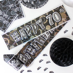 Banners de fiesta de cumpleaños 70