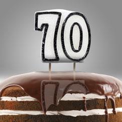70.a fiesta de cumpleaños velas y destellos