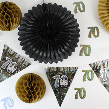 70.a decoraciones de la fiesta de cumpleaños