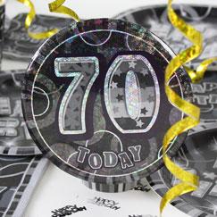 70.o accesorios de la fiesta de cumpleaños