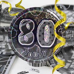 80.o accesorios de la fiesta de cumpleaños