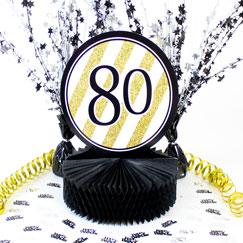 Decoraciones de la tabla de cumpleaños 80