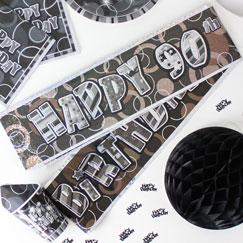 Banners de fiesta de cumpleaños 90