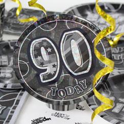 90.os accesorios de la fiesta de cumpleaños