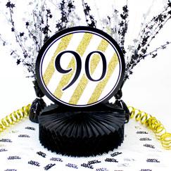 90.a decoraciones de la mesa de la fiesta de cumpleaños