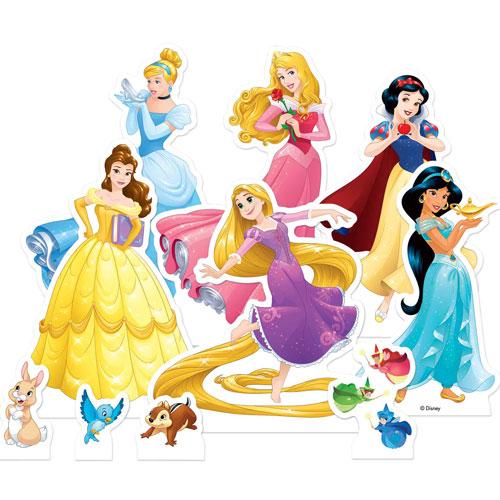 Princesa De Disney Tablero De Mesa Recorte Decoraciones - Paquete De 10
