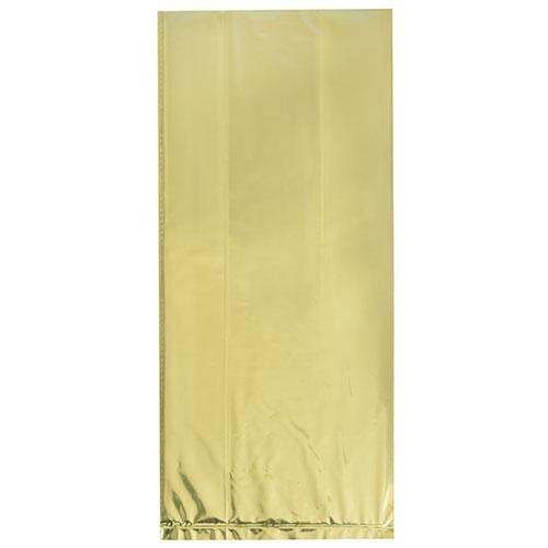 Bolsas De Regalo De Cello De Florete De Oro Con Lazos Retorcidos - Paquete De 10