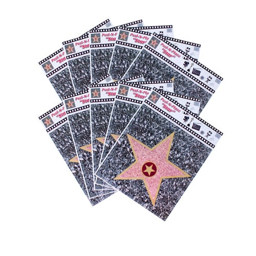 Hollywood Caminar Of Fama Estrella Pelarse Y Lugar Pegatinas De Piso - Paquete De 10