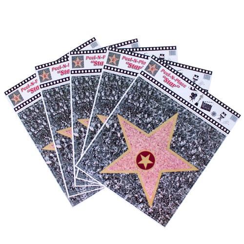 Hollywood Caminar Of Fama Estrella Pelarse Y Lugar Pegatinas De Piso - Paquete De 5