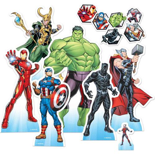 Marvel Avengers Animación Tablero De Mesa Recorte Decoraciones - Paquete De 7