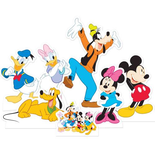 Mickey Mouse Y Amigos Tablero De Mesa Recorte Decoraciones - Paquete De 7