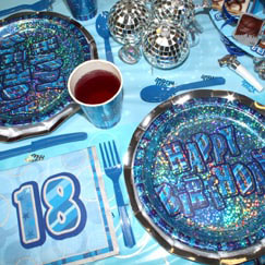Azul Glitz 18vo cumpleaños