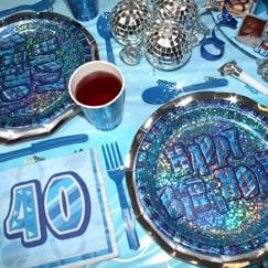 Azul Glitz 40.º cumpleaños