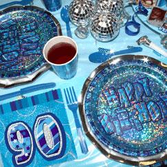 Azul Glitz 90.º cumpleaños