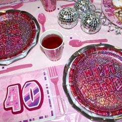 Rosa Glitz 40 Cumpleaños