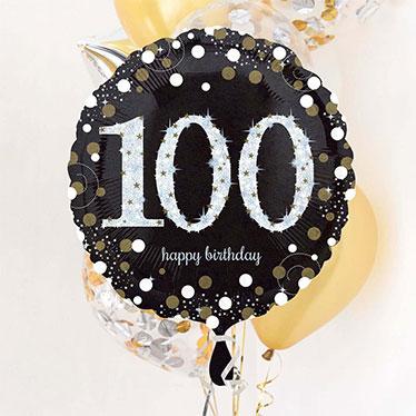 100º cumpleaños Globos y accesorios