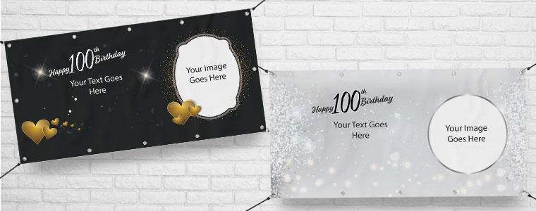 100 cumpleaños Banners personalizados