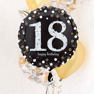18 globos de cumpleaños