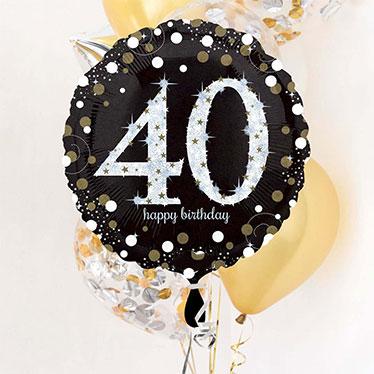 40.º Cumpleaños Globos y accesorios