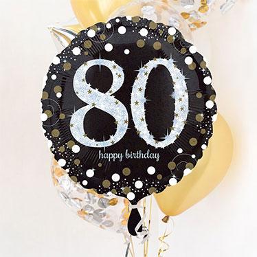 Globos de cumpleaños 80 y accesorios