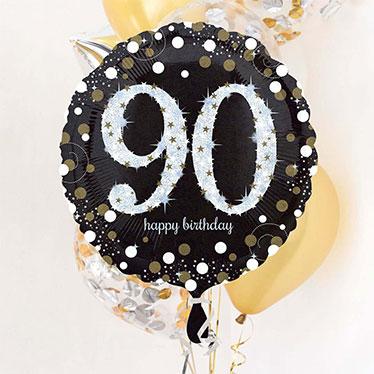 Globos de cumpleaños 90