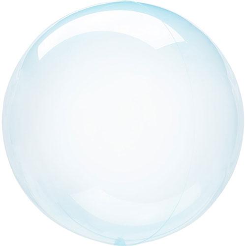 Cristal Azul Clearz Burbuja Helio Globo 46Cm / 18 En