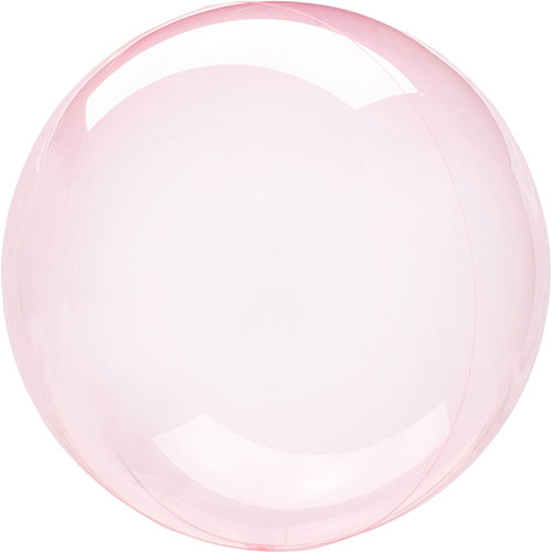 Globo De Helio De Burbuja Clearz De Cristal Rosa Oscuro 46Cm / 18 In