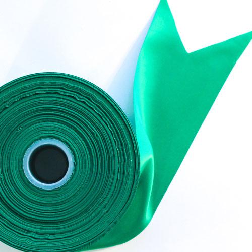 Verde Satén Enfrentado Carrete De Listón 100mm X 91m