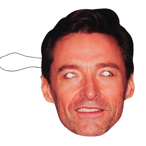 Hugh Jackman Máscara De La Cara De Cartón