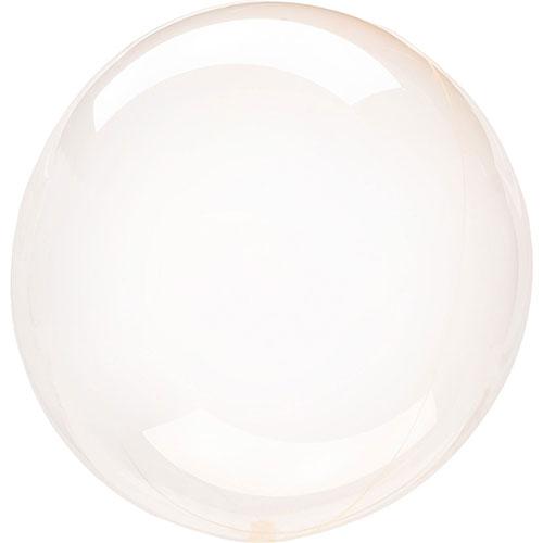 Naranja Cristal Clearz Burbuja Helio Globo 46Cm / 18 En