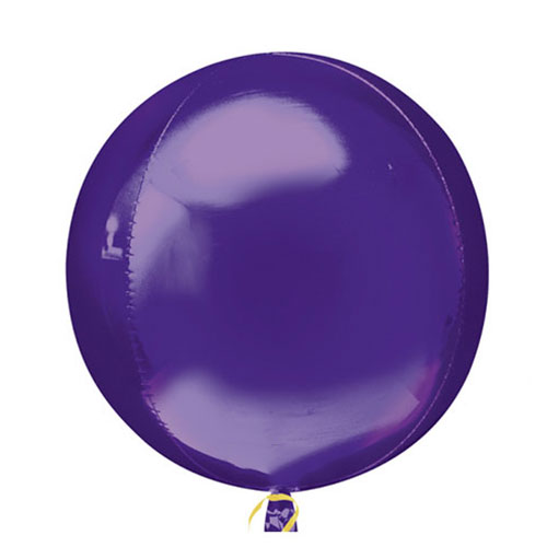 Globo De Helio De Papel De Aluminio Orbz Púrpura 38Cm / 15 In