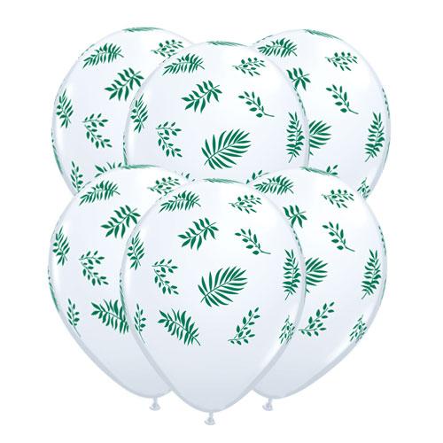 Verdes Tropicales Látex Helio Qualatex Globos 28 Cm / 11 Pulgadas - Paquete De 10