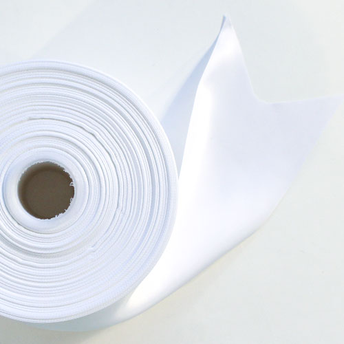 Blanco Satén Enfrentado Carrete De Listón 100mm X 91m