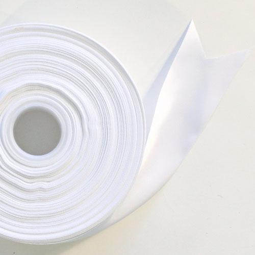 Blanco Satén Enfrentado Carrete De Cinta 45mm X 91m