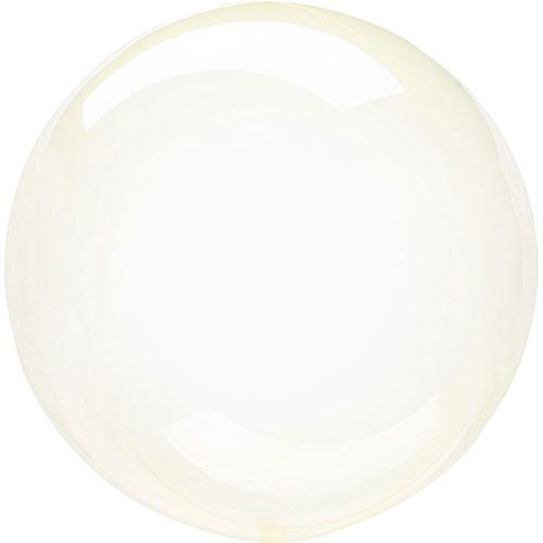 Globo De Helio De Burbuja Clearz De Cristal Amarillo 46Cm / 18 In