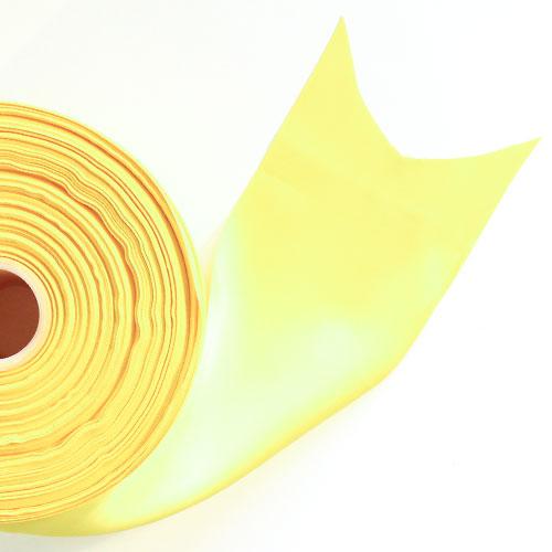 Amarillo Satén Enfrentado Carrete De Listón 100mm X 91m