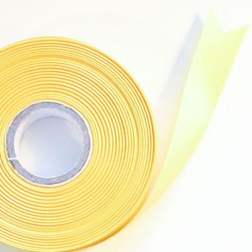 Amarillo Satén Enfrentado Carrete De Listón 25mm X 50m