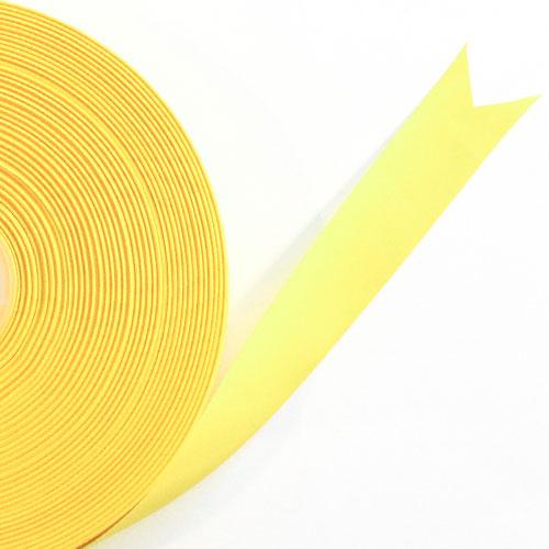 Amarillo Satén Enfrentado Carrete De Cinta 15mm X 50m
