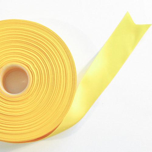 Amarillo Satén Enfrentado Carrete De Cinta 38mm X 91m