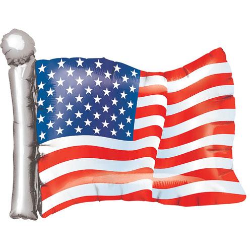 Bandera Americana Usa Globo Gigante De Aluminio Helio 68Cm / 27 In