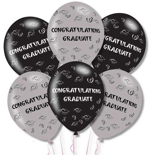 Felicitaciones Graduados Globos De Helio De Látex 28 Cm / 11 Pulgadas - Paquete De 6