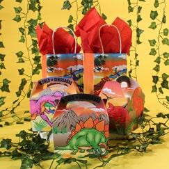 Bolsas Y Cajas De Partido Del Dinosaurio