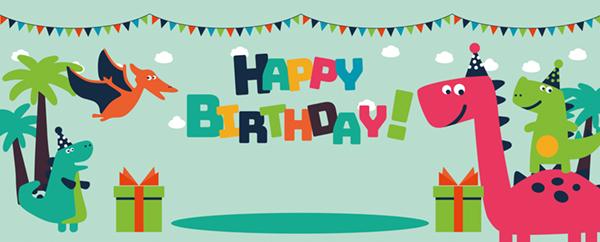 Banners de cumpleaños con texto personalizado