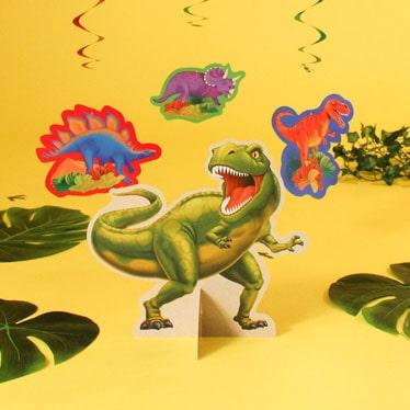Decoraciones de fiesta de dinosaurios